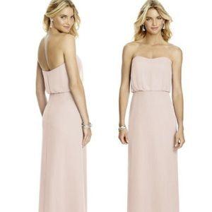Strapless Lux Chiffon Bridesmaid Dress